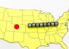 Shooting in Colorado stock photo