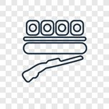 Shooting concept vector linear icon on transparent back royalty free illustration