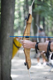 Shooting crossbow Royalty Free Stock Images