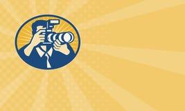 Shooting de la cámara del fotógrafo DSLR retro libre illustration