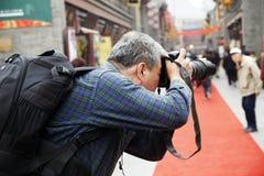 Shooting del fotógrafo Imagenes de archivo