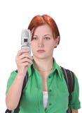 Shooting del teléfono Imagen de archivo libre de regalías