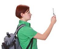 Shooting del teléfono Foto de archivo libre de regalías