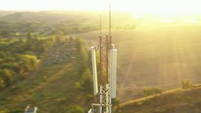 Flying around a mobile repeater tower