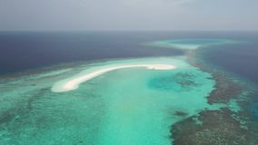 Aerial View. Islands of the tropical seas. stock video