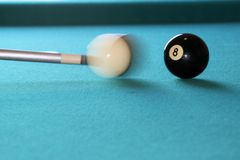 Shooting eight ball Stock Photo