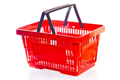 Shooting an empty shopping cart Stock Photos