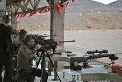 Shooting en la demostración Las Vegas del TIRO Imagen de archivo