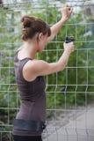 Shooting femenino del agente Fotografía de archivo