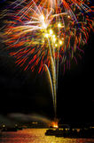 Shooting fireworks Royalty Free Stock Photography