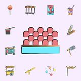shooting gallery colored icon. circus icons universal set for web and mobile vector illustration