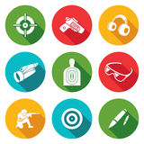 Shooting gallery Icons Set. Vector Illustration Royalty Free Stock Images