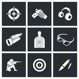Shooting gallery icons. Vector Illustration. Stock Photography