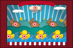 Shooting gallery Stock Image