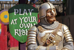 A Shooting Gallery Knight at the Arizona Renaissance Festival Royalty Free Stock Images