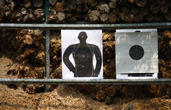Shooting gallery and Target Royalty Free Stock Image