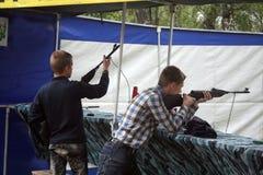 Shooting gallery Stock Photo