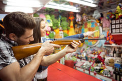 Shooting game an amusement park Stock Photography
