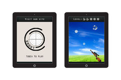 Shooting Game App Template for mobile app and website design Royalty Free Stock Image