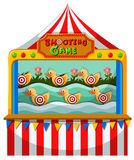 Shooting game with targets on ducks Royalty Free Stock Images