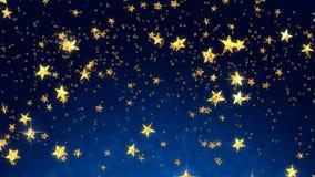Shooting golden stars (seamless loop) stock video