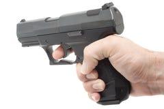 Shooting a gun Stock Photography