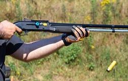 Shooting with a gun Royalty Free Stock Photos