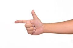 Shooting hand Royalty Free Stock Image