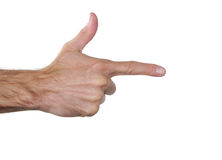 Shooting hand sign Royalty Free Stock Photos