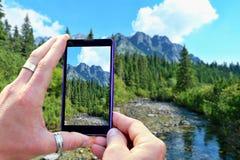 Shooting High Tatra mountains Stock Photography