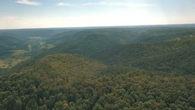 Shooting hills aerial view stock footage