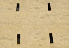 Abstract texture shooting holes from an old tower in Brasov royalty free stock photo