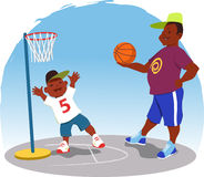 Shooting hoops Royalty Free Stock Photo