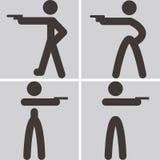 Shooting icons Stock Photo