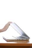 Shooting laptop Royalty Free Stock Image