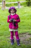 Shooting little girl Stock Photos