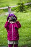 Shooting little girl Stock Photography