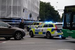 Shooting in Malmo, Sweden 180618 Royalty Free Stock Photo