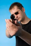Shooting man Stock Photo