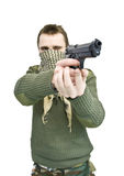 Shooting man Royalty Free Stock Photo