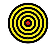 Shooting mark in black, red, and yellow colors Stock Photography