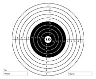Shooting mark in white and black colors Royalty Free Stock Photo