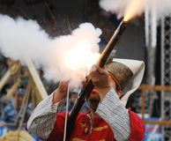 Shooting a musket Royalty Free Stock Photos