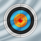 Shooting paper target pierced by bullets Royalty Free Stock Photography