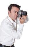 Shooting photos Stock Images