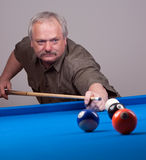 Shooting pool Royalty Free Stock Image