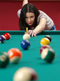 Shooting pool Stock Photo