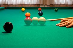 Shooting pool at a bar Stock Photos