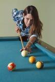 Shooting pool Royalty Free Stock Image