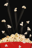 Shooting popcorn Stock Images